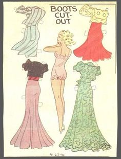 LARGE-LOT-OF-UNCUT-NEWSPAPER-PAPER-DOLLS-HTF-LARGE-SIZE-BOOTS