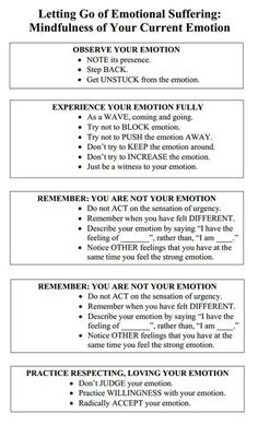 Emotion mindfulness