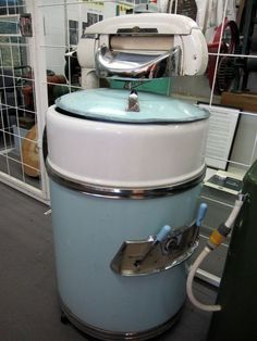 Vintage Wringer Washing Machine. Yeah, looks like the beast we had back in Poland when I was child : )