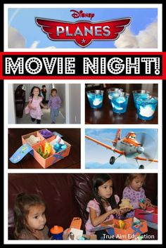 Planes Family Movie Night (these little airplane snack boxes are so cute!)