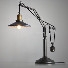 Wholesale cheap  online, brand - Find best rh loft vintage elevator/lift pulley table/desk lamp/light,e27 light source book lamp/light,reading…