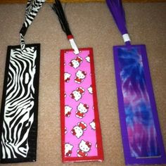 Book Marks Duck Tape