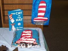 """""""The Cat in the Hat"""" creation by Auddia P.  2012 Edible Book Festival at Burton Public Library"""