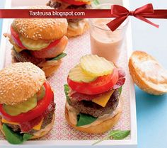 pan fried baby bacon cheeseburgers with special sauce recipe
