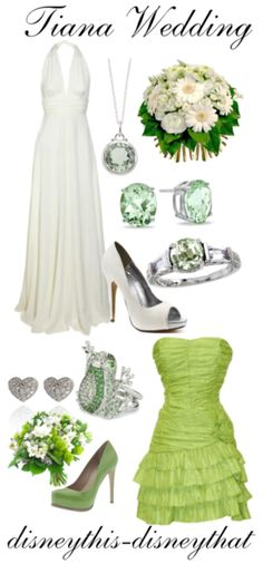 The wedding dress isn't what I'm looking for, but I do like the green dress for the bridesmaids