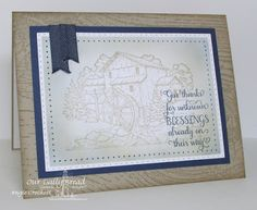 ODBD Living Water, ODBD Wood Background, ODBD Custom Double Stitched Rectangles Dies, ODBD Custom Rectangles Dies, Card Designer Angie Crockett