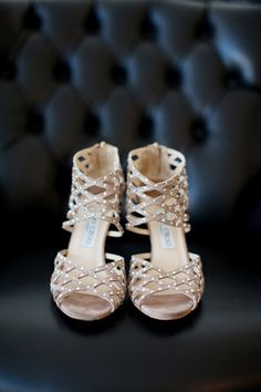 Leave it to Mr. Choo to add a little elegance to the popular gladiator style. Perfect for the edgy bride.
