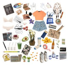 The Lonely Artist by stvrlet on Polyvore featuring polyvore, fashion, style, Sperry, adidas, Orelia, Clips, Stila, H&M, TC Fine Intimates, Jayson Home, Back to the Roots, CB2, OKA, Fountain, Dress My Cupcake, Moleskine, Forum, Identity and clothing