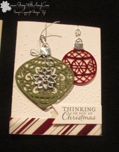 Embellished Ornament Stamp and Die Set from Stampin' Up 2015