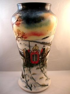 Breathtaking Huge MOORCROFT THE ESCAPE Dated TRIAL Vase