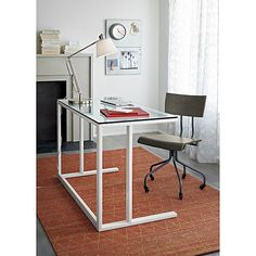 Slim Desk Lamp with White Shade in Table & Desk Lamps   Crate and Barrel