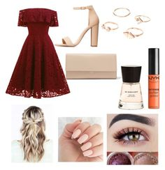 """summer wedding outfit"" by outfitt ❤ liked on Polyvore featuring Charlotte Russe, Michael Kors, NYX and Burberry"