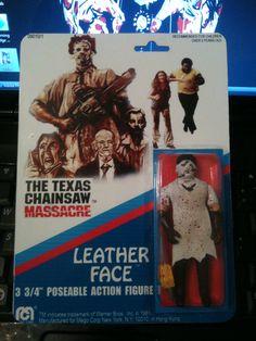 "Custom ""dukes of hazzard"" leather face action figure. Etsy.com/shop/horrorables"