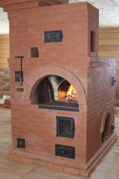 Комбинированная русская печь. Служит для приготовления пищи и отопления помещения. Bbq Pit Smoker, Bread Oven, Stove Fireplace, Rocket Stoves, Brickwork, Alternative Energy, New Homes, House, Outdoor