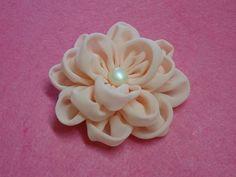 DIY chiffon flower,How to,Tutorial,fabric flower,easy (+плейлист)