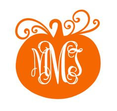 Pumpkin Monogram Decal