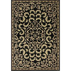 @Overstock - Alliyah Handmade Black New Zealand Blend Wool Rug (8' x 10') - Add luxurious style to your home decor with a Venice Medallion black and gold area rugCustom dyed, hand-tufted and hand-carved yarns make rug into floor artTransitional rug has blended and hand-washed 100-percent wool pile  http://www.overstock.com/Home-Garden/Alliyah-Handmade-Black-New-Zealand-Blend-Wool-Rug-8-x-10/4332758/product.html?CID=214117 $173.73