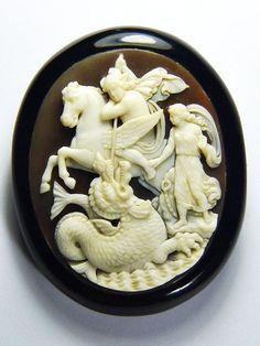 Rare cameo of Perseus and Andromeda