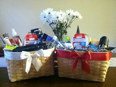 Wedding Bathroom Basket by AngelfishWeddings on Etsy, $55.00