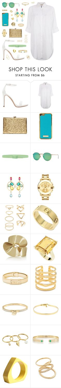"""""""The Sky Is The Limit"""" by belenloperfido ❤ liked on Polyvore featuring Mode, Zara, Monsoon, Tie-Ups, Ray-Ban, Oscar de la Renta, Movado, Forever 21, Cartier und Etro"""