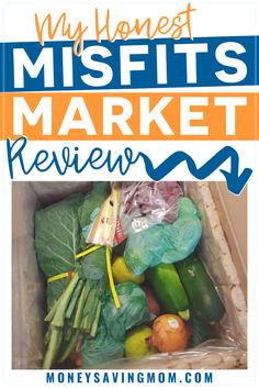 Looking for a way to save on organic produce? Check out my honest review of the Misfits Market subscription box service where they send you rescued produce at a much cheaper price than the grocery store. #organicproduce #grocerylistonabudget #savingmoney Money Saving Mom, Make Money Blogging, Cheap Meals, Easy Meals, Healthy Habits, Healthy Recipes, Misfits, Menu Planning, Shopping Hacks