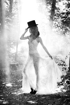 Vanessa Paradis | Ellen von Unwerth | Chanel for Madame Figaro | top hat | sheer | woods | light | www.republicofyou.com.au