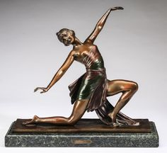 Decorative Arts Official Website Statue Sculpture Boy Art Deco Style Art Nouveau Style Solid Bronze Signed Antiques