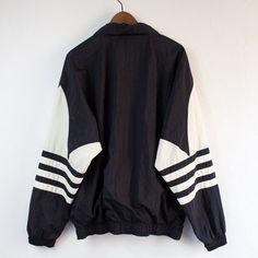 Vintage 90 s Adidas Black Pullover Windbreaker - Large 5886132e1218