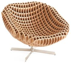 This French Modernist Armchair is our interpretation of the popular cantilever chair. Handwoven with abaca rope and mahogany wood in a modern design that has organic textures, great for any room. Plywood Furniture, Design Furniture, Furniture Plans, Chair Design, Cool Furniture, Modern Furniture, Furniture Stores, Futuristic Furniture, Furniture Market