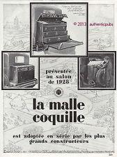 PUBLICITE MALLE COQUILLE AUTOMOBILE CITROEN VALISE BAGAGERIE DE 1929 FRENCH AD