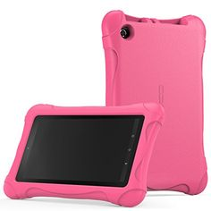 MoKo Case for Fire 7 2015  Kids Friendly Ultra Light Weight Shock Proof Super Protective Cover Case for Amazon Fire Tablet 7 inch Display  5th Generation 2015 Release Only MAGENTA -- Click the image to view the details