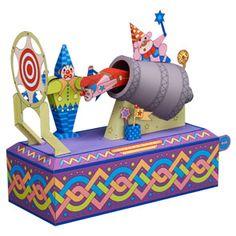 Papercraft del Circo. El Payaso Bala / Clowns out of a cannon. Manualidades a Raudales.