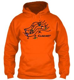 Clarinet - Colorful Staff - Black Letters - Hoodie