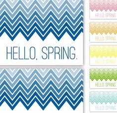 Ombre Chevron Spring Printable from Sprik Space