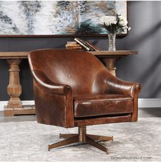 Ellington Swivel Chairs Combine Premium Quality Materials With Unique High-style Design. Revelation by Uttermost offers wholesale accent furniture, mirrors, lamps, lighting fixtures and Accent Furniture, Furniture Design, Luxury Furniture, Swivel Chair, Armchair, Chair Cushions, Floor Protectors For Chairs, Metal Chairs, Black Chairs
