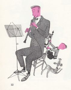 Clarinet - What makes an orchestra, written and illustrated by Jan Balet in 1959. (via My Vintage Avenue, 50's and 60's illustrations)