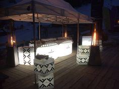 Barras de bar led y cubos led con logo!!  www.lavidaenled.com