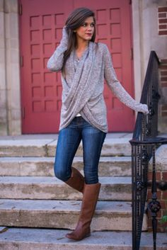 Wrapped Love Top, Taupe. #FixedOnFall