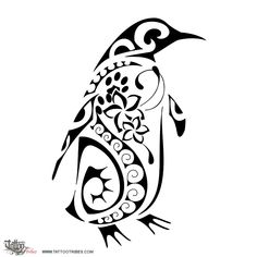 TATTOO TRIBES: Tattoo of Penguin, Constancy tattoo,penguin seashell frangipaniflowers waves tattoo - royaty-free tribal tattoos with meaning Pinguin Drawing, Pinguin Tattoo, Future Tattoos, New Tattoos, Body Art Tattoos, Tatoos, Tribal Tattoos With Meaning, Zealand Tattoo, Penguin Art