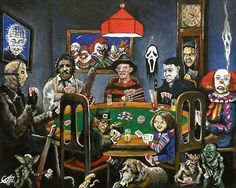 Instead of dogs playing poker! Could totally see this in your game room!