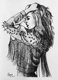 Rock And Roll Fashion Tumblr | illustration rock chic rock chick rock n roll fashion draw