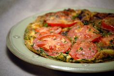 Potato & Egg Omelette from Jacque Pepin. Serve with salsa and it's the perfect, easy, pretty brunch food.