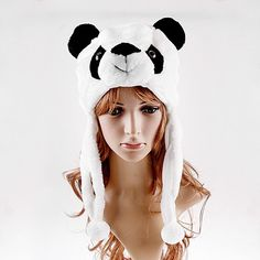 Finds the cutest Panda Bear Hats, beanies and even Free Panda hat patterns. These cute Panda hats are perfect for anyone of any age and they are... and the manikin is kinda creepy O.o