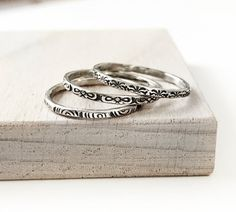 Cheap Silver Rings For Women Refferal: 8019401341 Diamond Stacking Rings, Stackable Rings, Great Gifts For Girlfriend, St Michael Pendant, Stacked Wedding Rings, Gold Jewelry Simple, Gold Jewellery, Silver Jewelry, Skinny Rings