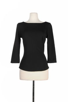 Sabrina Top in Black