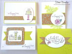 Team craft day challenge - Happiest of Days - Stampin' Up! - Fiona Bradley