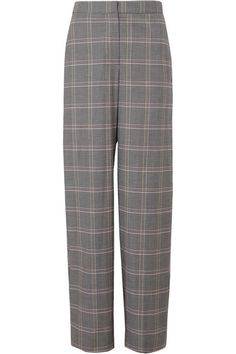 Free Shipping Outlet Garrett Pleated Plaid Twill Wide-leg Pants - Navy Tory Burch Clearance Store Wy2i4Hayj