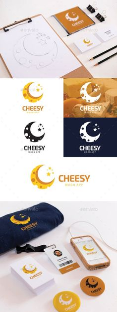 Cheesy Moon: Food Logo Design Template by cropqa. Food Logo Design, Logo Food, Identity Design, Cheese Design, Wine Logo, Moon Logo, Great Logos, Animal Logo, Brand Packaging