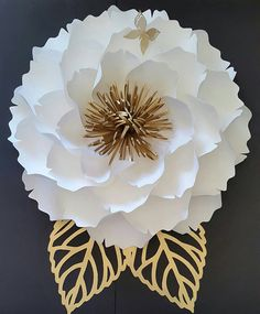Paper flower backdrop Wedding paper flowers Paper flower