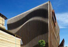 rippling wood facade-2